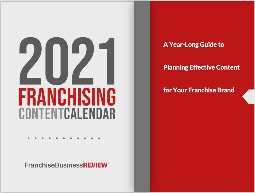 2021 Franchising Content Calendar Graphic