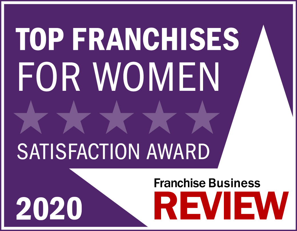 Top Franchises for Women Franchise Satisfaction Award Graphic 2020 -purple