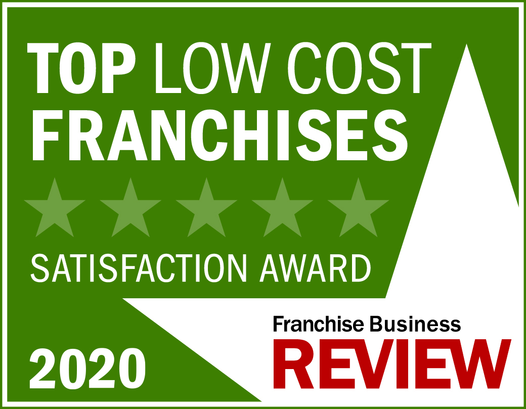 Top Low-Cost Franchise Satisfaction Award Graphic 2020 -light green