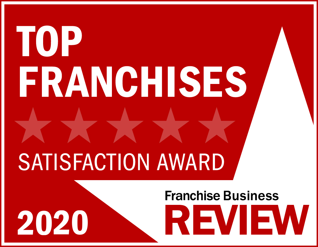 Top Franchise Satisfaction Award Graphic 2020 -red