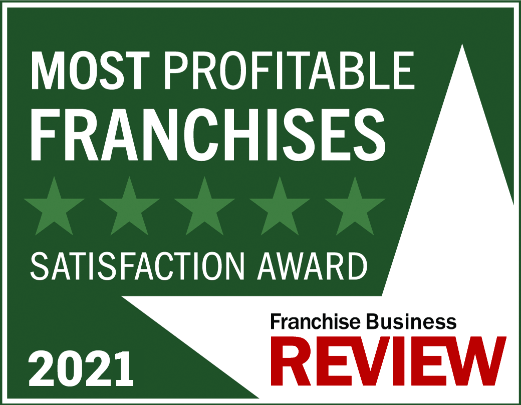 Most Profitable Franchise Satisfaction Award Graphic 2021 -dark green