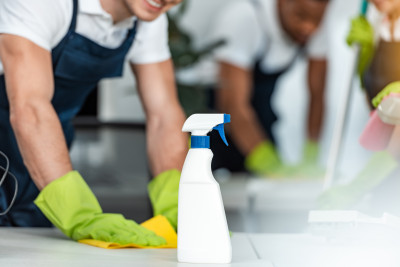 cleaner with spray bottle