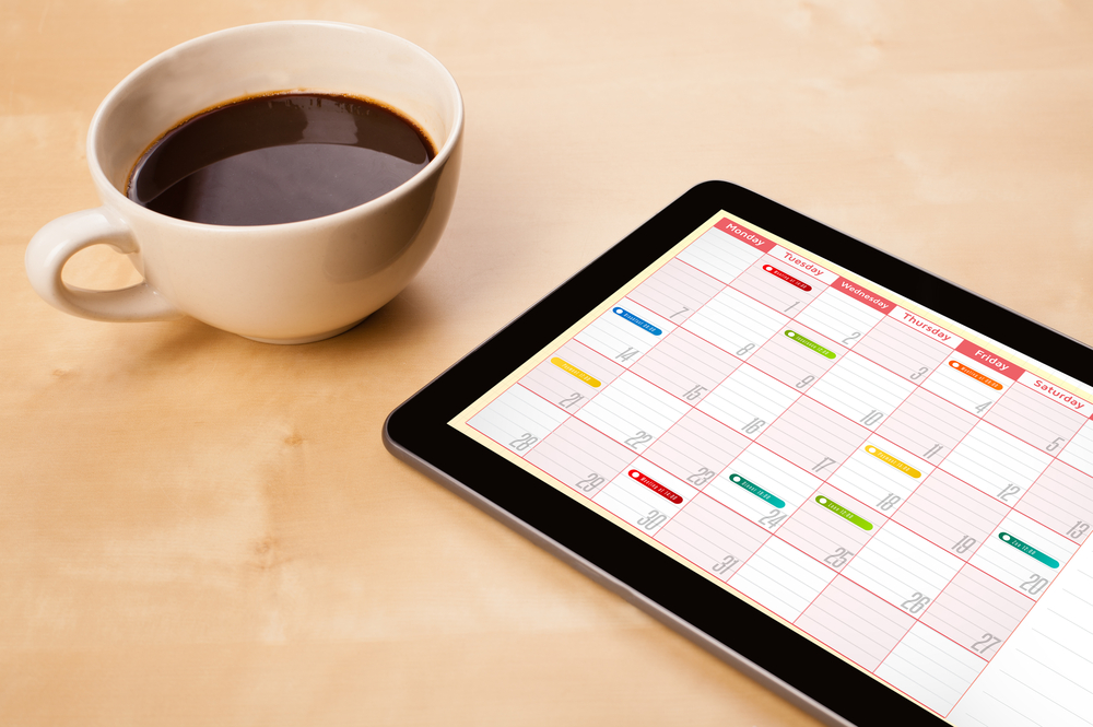 Content Calendar on Tablet